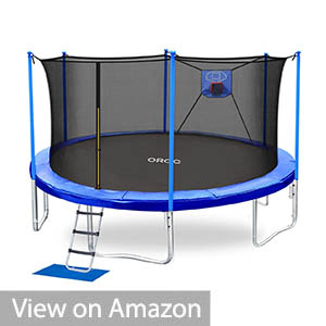 Kids Basketball Trampoline with Safety Enclosure Net