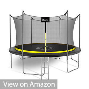 Trampoline with Enclosure Net and Ladder